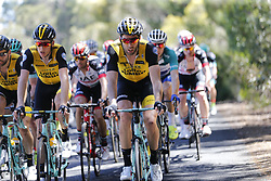 January 18, 2018 - Glenelg, AUSTRALIA - Belgian Maarten Wynants of Team LottoNL-Jumbo in action at stage 3 of the Tour Down Under cycling race, 120,5km from Glenelg to Victor Harbor, Thursday 18 January 2018 in Australia. The stage is shortened because of the extreme temperatures that are expected in Western Australia on Thursday. This years edition of the race is taking place from January 16th to January 21st...BELGA PHOTO YUZURU SUNADA. (Credit Image: © Yuzuru Sunada/Belga via ZUMA Press)