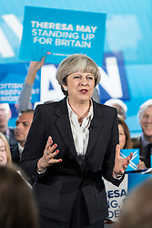 Prime Minister, Theresa May and Scottish Conservative and Unionist Leader, Ruth Davidson campaign in Edinburgh as the General Election campaign enters the final three days.