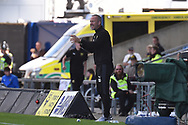 Oxford United assistant manager Shaun Derry gives instructions during the EFL Sky Bet League 1 match between Oxford United and Coventry City at the Kassam Stadium, Oxford, England on 9 September 2018.