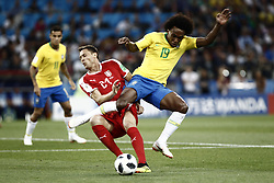 June 27, 2018 - Moscow, Russia - Willian during the 2018 FIFA World Cup Russia group E match between Serbia and Brazil at Spartak Stadium on June 27, 2018 in Moscow, Russia. (Credit Image: © Mehdi Taamallah/NurPhoto via ZUMA Press)