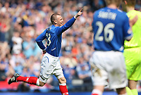 Rangers v St Mirren<br /> Scottish Cup Semi Final<br /> Hampden Park<br /> Glasgow<br /> 25th April 2009<br /> <br /> Rangers Kenny goal celebrations<br /> <br /> <br /> Ian MacNicol - Colorsport<br /> <br /> Email: info@colorsport.co.uk<br /> Telephone: 01306 712233<br /> Fax: 01306 712260<br /> <br /> Address<br /> The Old Sawmill<br /> Rusper Road<br /> CAPEL<br /> Surrey<br /> RH5 5HF<br /> <br /> Registration: registration@colorsport.co.uk<br /> Sales: sales@colorsport.co.uk<br /> Enquiries: ask@colorsport.co.uk