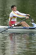 Hazewinkel. BELGUIM  GBR MLM1X, Rod CHISHOLM 2004 GBR Rowing Trials - Rowing Course, Bloso, Hazewinkel. BELGUIM. [Mandatory Credit Peter Spurrier/ Intersport Images]