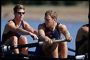 Sydney, AUSTRALIA,  USA  M8+, left, Tom WELSH, . 2000 Olympic Regatta, West Lakes Penrith. NSW.  [Mandatory Credit. Peter Spurrier/Intersport Images] Sydney International Regatta Centre (SIRC) 2000 Olympic Rowing Regatta00085138.tif