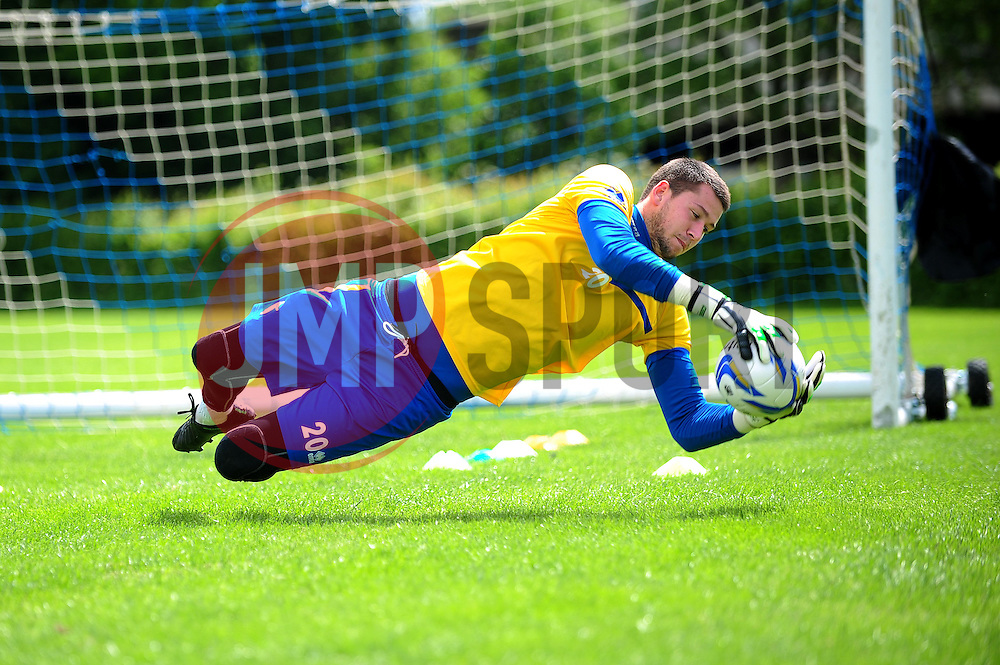 Bristol Rovers' goalkeeper, Conor Gough - Photo mandatory by-line: Dougie Allward/JMP - Tel: Mobile: 07966 386802 24/06/2013 - SPORT - FOOTBALL - Bristol -  Bristol Rovers - Pre Season Training - Npower League Two