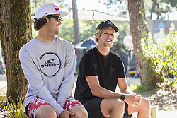 October 6, 2017 - Jordy Smith (ZAF) and John John Florence (HAW) during the Press Conference at the Quiksilver and Roxy Pro France 17..Quiksilver Pro France 2017, Landes, France - 06 Oct 2017 (Credit Image: © Rex Shutterstock via ZUMA Press)