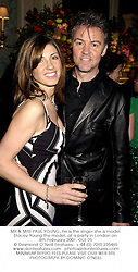 MR & MRS PAUL YOUNG, he is the singer she is model Stacey Young the model, at a party in London on 8th February 2001.OLE 25