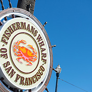 Steering wheel sign at Fishermans Wharf in San Francisco