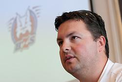 Robert Verlic na tiskovni konferenci HZS pred skupscino Hokejske zveze Slovenije, on September 7, 2011, in Ljubljana, Slovenia. (Photo by Matic Klansek Velej / Sportida)