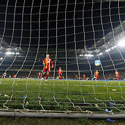 Fenerbahce's scores during their Turkish superleague soccer derby Fenerbahce between Galatasaray at the Sukru Saracaoglu stadium in Istanbul Turkey on Sunday 08 March 2015. Photo by Kurtulus YILMAZ/TURKPIX