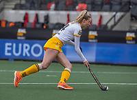 AMSTELVEEN - Sanne Koolen (DenBosch)  tijdens de halve finale wedstrijd dames EURO HOCKEY LEAGUE (EHL),  Amsterdam-HC Den Bosch. (1-1) Den Bosch wint shoot outs en plaats zich voor de finale.  COPYRIGHT  KOEN SUYK