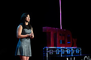 Ramona Pascual speaks during the TEDxWanChai event Emergence on Jun 2, 2018, in Hong Kong. / Moses Ng / MozImages