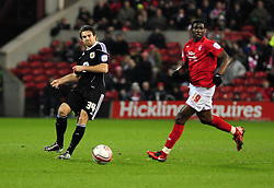 Bristol City's Brett Pitman attempts to thread the ball through - Photo mandatory by-line: Matt Bunn/JMP - 25/01/2011 - SPORT - FOOTBALL - npower championship-Nottingham Forest v Bristol city-City Ground-Nottingham