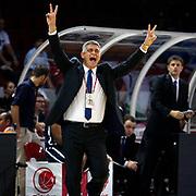 Anadolu Efes's Oktay Mahmuti during their 28. Men's Basketball Presidential Cup match Besiktas between Anadolu Efes at the Abdi ipekci Arena in Istanbul Turkey on Sunday 30 September 2012. Photo by TURKPIX