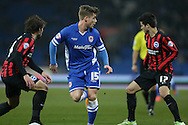 Conor McAleny during the Sky Bet Championship match between Cardiff City and Brighton and Hove Albion at the Cardiff City Stadium, Cardiff, Wales on 10 February 2015.