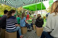 10 SEP 2021, TELTOW/GERMANY:<br /> Annalena Baerbock, MdB, B90/Gruene, Bundesvorsitzende und Spitzenkandidatin, waehrend einer Wahlkampfveranstaltung, August-Mattausch-Park<br /> IMAGE: 20210910-01-019<br /> KEYWORDS: Bundestagswahl, Election Campain, Rede, speech