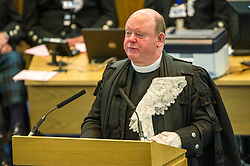 Pictured: The Very Reverend Derek Browning MA BD DMin moderator 2017<br /> <br /> The 2018 General Assembly of the Church of Scotland begins.This year's annual gathering runs until Friday May 25<br /> <br /> Ger Harley   EEm 19 May 2018
