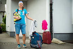 Katarina Lavtar at departure of Slovenian Women Ski Team to training camp in Argentina on August 5, 2014 in SZS, Ljubljana, Slovenia. Photo by Vid Ponikvar / Sportida.com