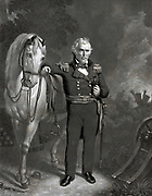 President Zachary Taylor 1848. 12th President of the United States of America. John Sartain