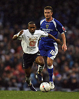 Photo: Rich Eaton.<br /> <br /> Cardiff City v Tottenham Hotspur. The FA Cup. 07/01/2007. Jermain Defoe left of SPurs and Stephen McPhail of Cardiff