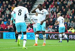 Michail Antonio of West Ham United celebrates his goal. - Mandatory by-line: Alex James/JMP - 11/03/2017 - FOOTBALL - Vitality Stadium - Bournemouth, England - Bournemouth v West Ham United - Premier League