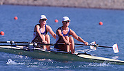 © Peter Spurrier Sports Photo.PH 44 (0) 973 819 551.e-mail rowingpics@aol.com..Sydney Olympic Games 2000.Penrith Lakes - Penrith - NSW - Australia..GBR W2X 2000 Olympic Regatta Sydney International Regatta Centre (SIRC) 2000 Olympic Rowing Regatta00085138.tif