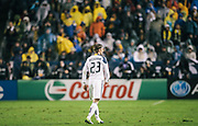 during the first half of the MLS Cup championship soccer match, Sunday, Nov. 20, 2011, in Carson, Calif. (AP Photo/Bret Hartman)
