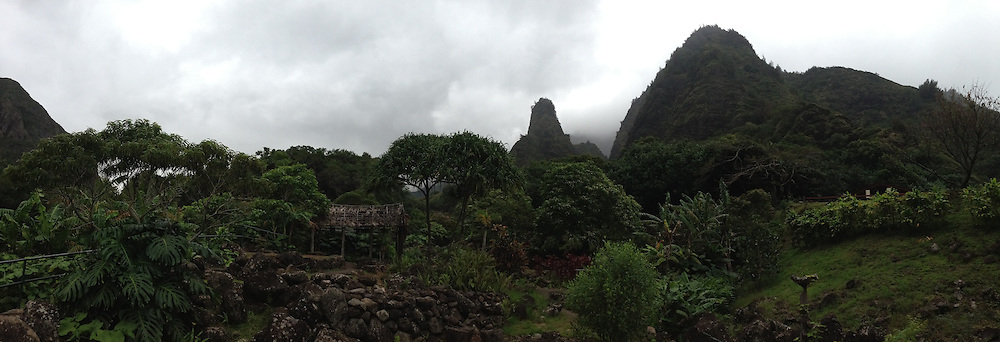 'Iao Needle (Panorama), Iao Valley State Park, Maui, Hawaii, US