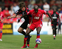 Photo: Lee Earle/Richard Lane Photography. <br /> Aldershot Town v AFC Bournemouth. Coca Cola League 2. 16/08/2008.    Bournemouth's Darren Anderton (L) battles with Marvin Morgan.
