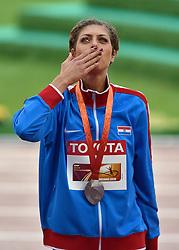 30-08-2015 CHN: IAAF World Championships Athletics day 9, Beijing<br /> Huldiging hoogspringen Blanka Vlasic CRO, zilver medaille<br /> Photo by Ronald Hoogendoorn / Sportida