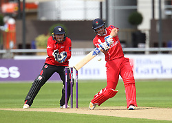 Liam Livingstone of Lancashire Lightning (R) in action - Mandatory by-line: Jack Phillips/JMP - 23/07/2017 - CRICKET - Emirates Old Trafford - Manchester, United Kingdom - Lancashire Lightning v Durham Jets - Natwest T20 Blast