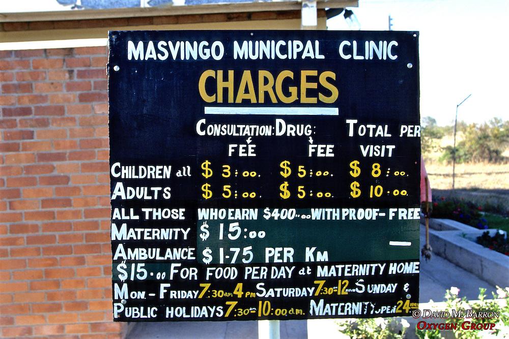 Masvingo Municipal Clinic Fees