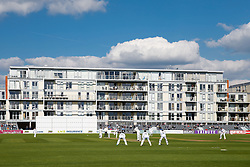General View of the Bristol County Ground with Kieran Noema-Barnett of Gloucestershire in to bat - Photo mandatory by-line: Rogan Thomson/JMP - 07966 386802 - 26/04/2015 - SPORT - CRICKET - Bristol, England - Bristol County Ground - Gloucestershire v Derbyshire — Day 1 - LV= County Championship Division Two.