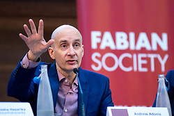 © Licensed to London News Pictures. 13/01/2018. London, UK. Lord Andrew Adonis speaks in the 'Planes, Trains and Automobiles' debate at the Fabian Society 2018 Conference. The overall conference title is 'Policy Priorities for the Left'. Photo credit : Tom Nicholson/LNP
