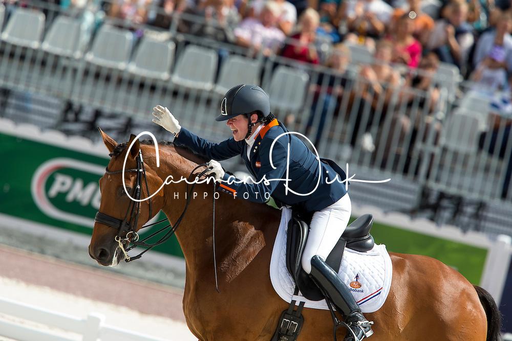 Sanne Voets, (NED), Vedet Pb - Freestyle Test Grade III Para Dressage - Alltech FEI World Equestrian Games™ 2014 - Normandy, France.<br /> © Hippo Foto Team - Leanjo de Koster<br /> 25/06/14