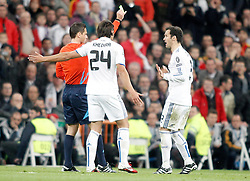 16.03.2011, Stadio Santiago di Bernabeu, Madrid, ESP, UEFA CL, Real Madrid vs Olympique de Lyon, im Bild Real Madrid's Ricardo Carvalho receives a yellow card during Champions League match. March 16, 2011. . EXPA Pictures © 2011, PhotoCredit: EXPA/ Alterphotos/ Alvaro Hernandez +++++ ATTENTION - OUT OF SPAIN / ESP +++++