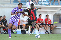 FOOTBALL - FRIENDLY GAMES 2010/2011 - TOULOUSE FC v OGC NICE - 31/07/2010 - PHOTO ERIC BRETAGNON / DPPI - ISMAEL GACE (NICE) / DANIEL BRAATEN (TOU)