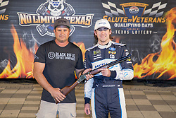 November 2, 2018 - Ft. Worth, Texas, United States of America - Ryan Blaney (12) wins the pole award for the AAA Texas 500 at Texas Motor Speedway in Ft. Worth, Texas. (Credit Image: © Justin R. Noe Asp Inc/ASP via ZUMA Wire)