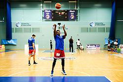 Marcus Delpeche of Bristol Flyers - Rogan/JMP - 19/04/2019 - BASKETBALL - University of Worcester Arena - Worcester, England. - Worcester Wolves v Bristol Flyers - British Basketball League.