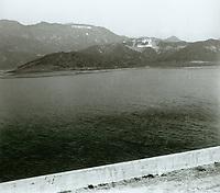 1924 Lake Hollywood & Dam beneath the Hollywoodland sign