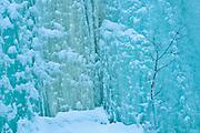 Frozen waterfall in Maligne Canyon, Jasper National Park, Alberta, Canada