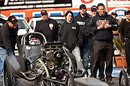The RE3 Top Fuel team..The 2013 March Meet at the Auto Club Famoso Raceway in McFarland, CA.