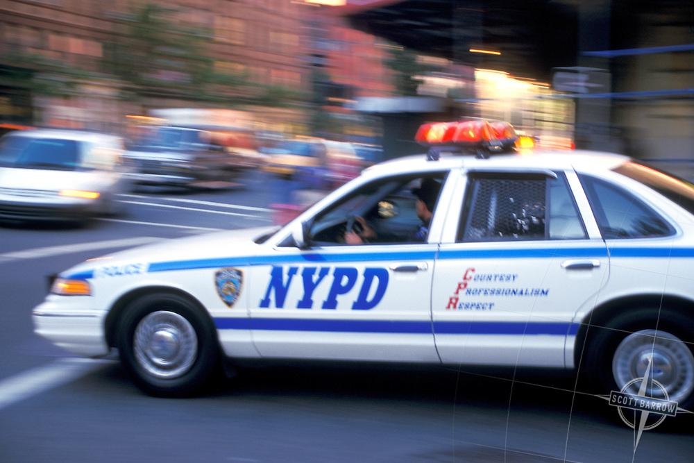 NYPD Squad Car en route.