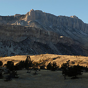 Mountains in Yellowstone National Park. Cooke City, Wyoming