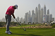 Tyrrell Hatton (ENG) on the 8th during Round 2 of the Omega Dubai Desert Classic, Emirates Golf Club, Dubai,  United Arab Emirates. 25/01/2019<br /> Picture: Golffile   Thos Caffrey<br /> <br /> <br /> All photo usage must carry mandatory copyright credit (© Golffile   Thos Caffrey)