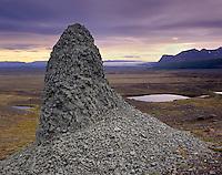 Volcanic rock on a glacial moraine, Skaftafell National Park Iceland, Europe