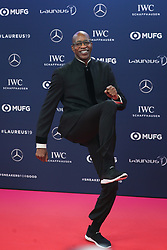 MONACO, Feb. 19, 2019  Laureus Academy member, U.S. athletics star Edwin Moses poses on the red carpet at the 2019 Laureus World Sports Awards ceremony in Monaco, Feb. 18, 2019. The 2019 Laureus World Sports Awards were unveiled in Monaco on Monday. (Credit Image: © Zheng Huansong/Xinhua via ZUMA Wire)