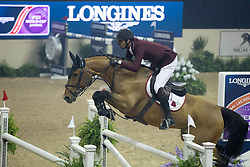 Sheikh Ali Al Thani Bin Khalid, (QAT), First Devision<br /> Longines FEI World Cup™ Jumping Final III round 1<br /> Las Vegas 2015<br />  © Hippo Foto - Dirk Caremans<br /> 19/04/15