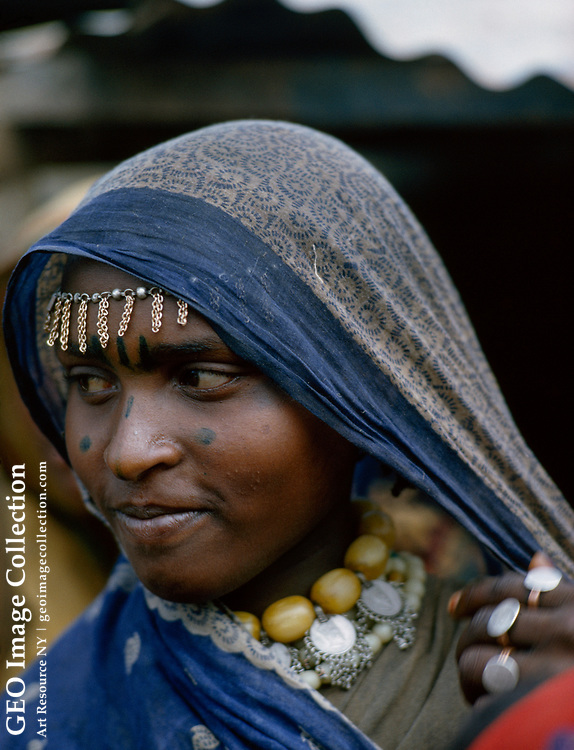 A Moslem woman belongs to the Gallas, a large population group.