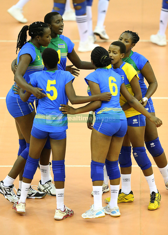 Rwandese players celebrate against Botswana during their U23 Africa Nations Championship at Safaricom Stadium Stadium in Nairobi on October 26, 2016. Rwanda won 3-0. Photo/Fredrick Onyango/www.pic-centre.com (KEN)