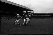 17/10/1965<br /> 10/17/1965<br /> 17 October 1965<br /> Oireachtas Final: Kilkenny v Tipperary at Croke Park, Dublin.<br /> Tipperary forwards, McLoughlin (15) and J. Doyle try to penetrate the Kilkenny defence.
